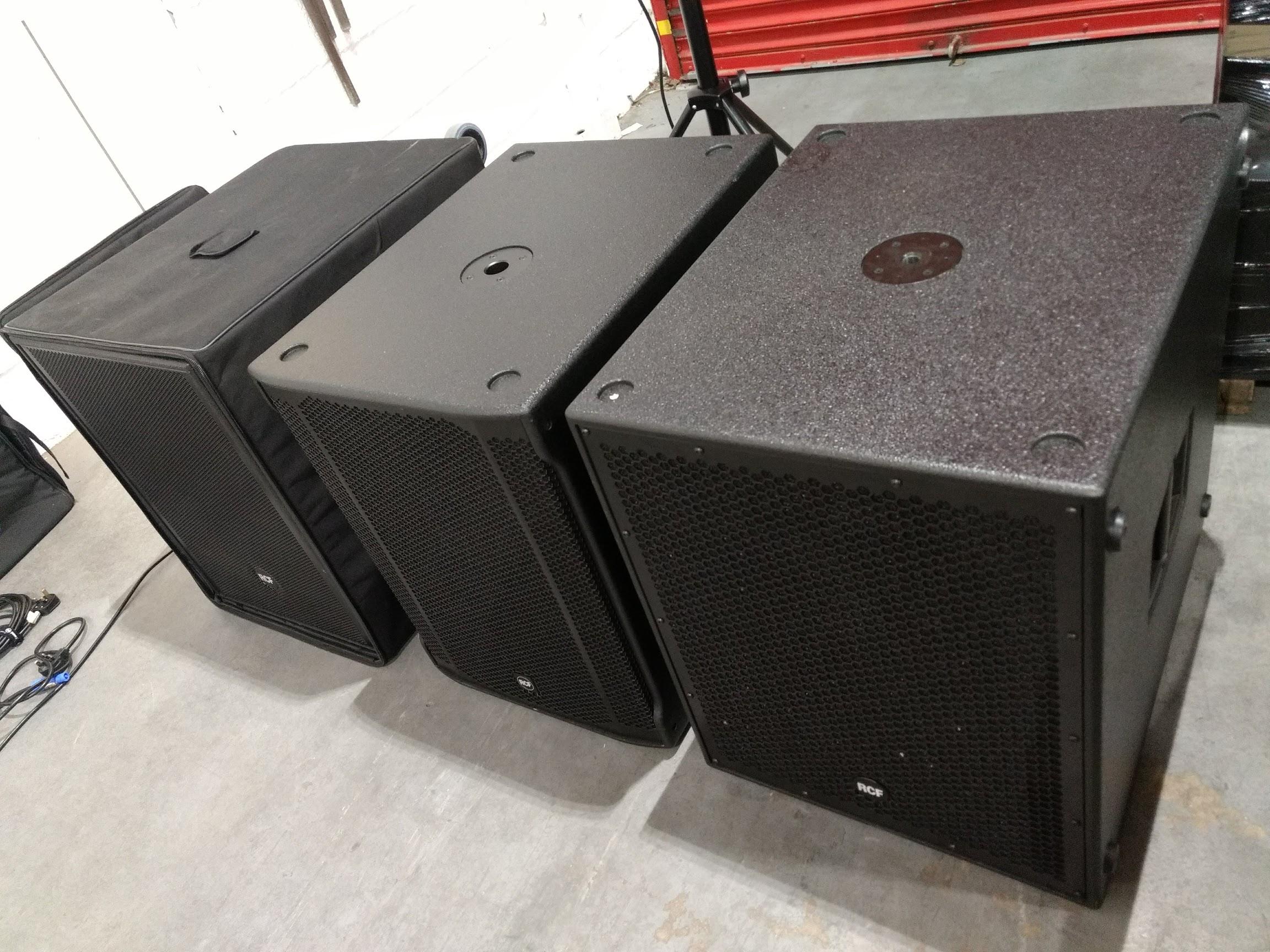 RCF 4PRO 8003 vs SUB 8003 MK2 vs SUB 8004 | Datarhyme